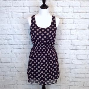 Forever 21 sheer overlay polka dotted dress